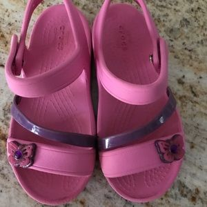 Crocs Swiftwater sandals pink toddlers girl S C10
